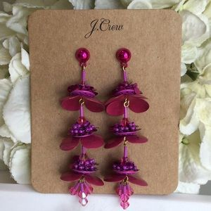 🆕J. Crew Pink Bead and Blossom Earrings